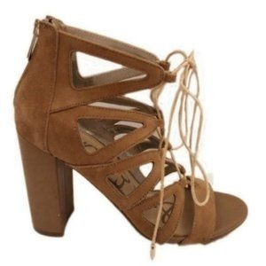 Sam Edelman (7.5M) Yona Brown Leather Caged Block